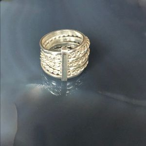 Jewelry - Sterling silver stacked ring size 5